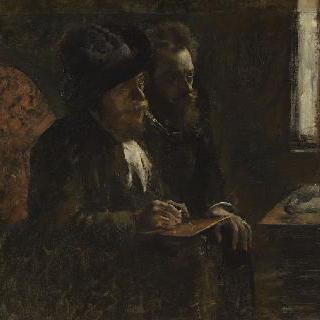 판화가 데부탱과 판화가 르픽의 초상