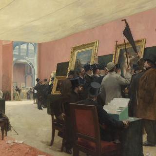프랑스 화가 살롱전에서 회화 심사 회의 (1883 )