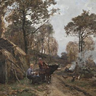 보 드 세르네 언덕의 나뭇꾼들의 오두막집