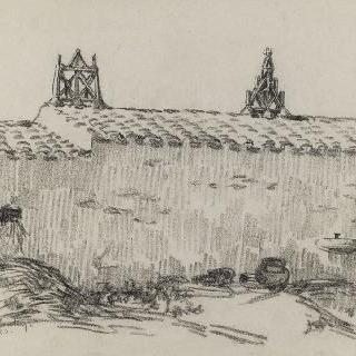 크루아 드 비와 시옹 사이의 마룻대의 꽃다발들