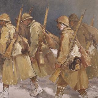 참호로의 귀환. 베르됭 참호, 1916