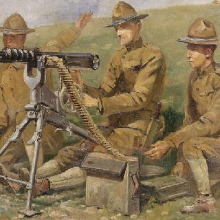 전투에 사용된 호치키스 기관총