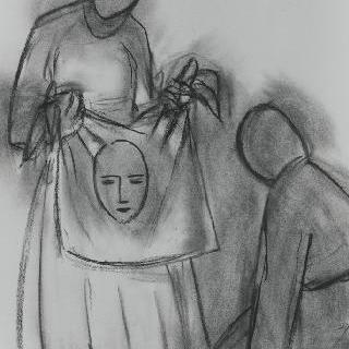 십자가의 여정의 여섯 번째 작품을 위한 습작 : 성녀 베로니카의 베일