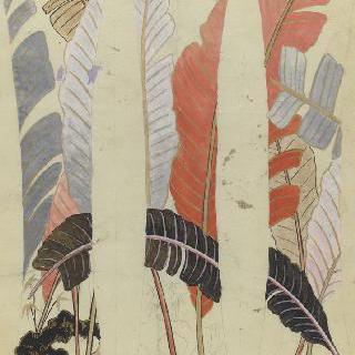 파이앙스 꽃병의 장식 스케치