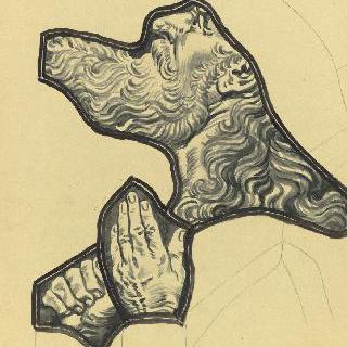 장식 유리 작업의 세부 : 이새의 나무