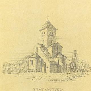 제르미니 레 프레의 교회 (루아레) : 복원전 상태