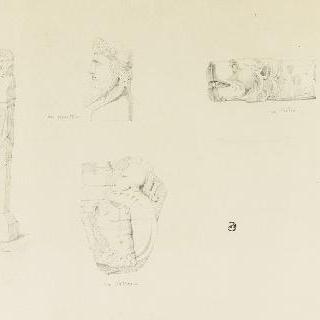 카피톨과 바티칸의 박물관들의 조각 요소들