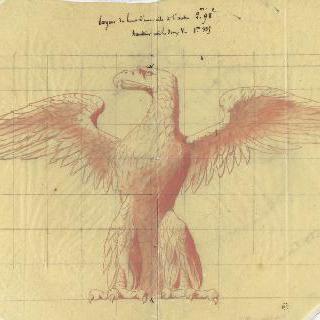 날개를 펼친 독수리