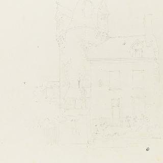 오를레앙 (루아레) : 집 한 채가 있는 요새화된 탑 : 원근감이 있는 전경