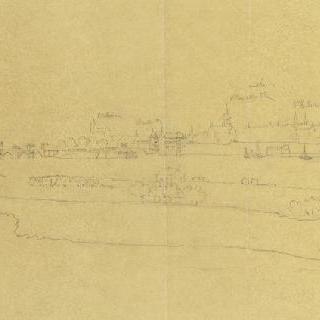 오를레앙 (루아레) : 실베스트르의 작품을 모사한 원근감있는 전경