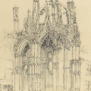 고딕 양식 교회의 정면