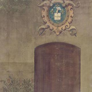 소르본 대학 : 대학의 문장으로 벽을 장식하기 위한 계획안