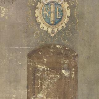 소르본 대학 : 프랑스 공화국의 문장으로 벽을 장식하기 위한 계획안
