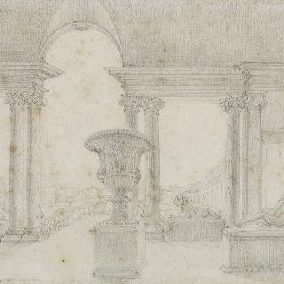 로마 판스 아카데미의 로지아