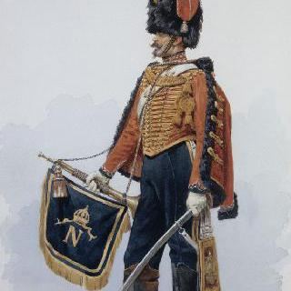 황실근위대 근위병의 나팔수, 1857