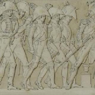 포츠담의 위병 검열식을 지나는 황제