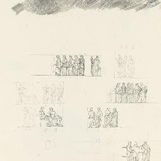 대영 박물관의 파르테논 신전 프리즈 세부 장식 (런던)
