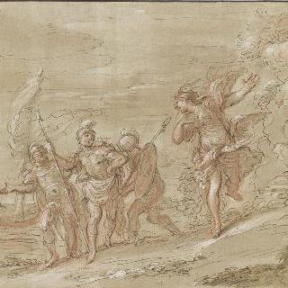 아르미드에게서 르노를 되찾은 우발트와 기병