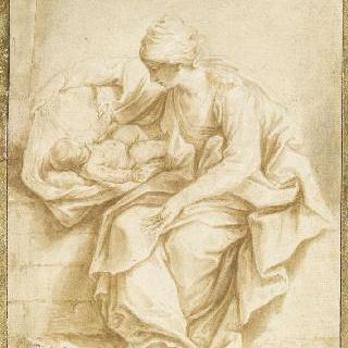 아기 예수와 놀아 주는 성모