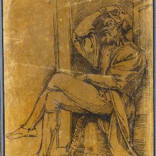 16세기 풍의 옷을 입은 남자