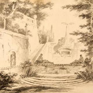 정원의 내부