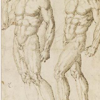 서 있는 두 명의 벗은 남자들