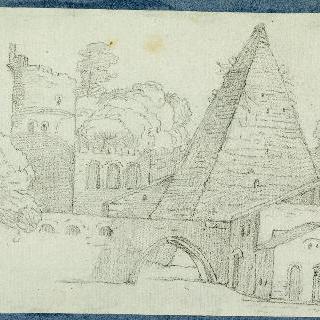 세스티우스의 피라미드가 있는 풍경