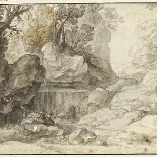 급류가 흐르는 바위 협곡
