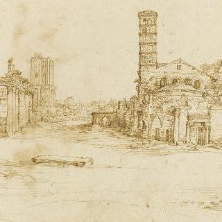 로마 포룸 위의 로마 사원들