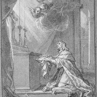 생트 샤펠에서 가시면류관을 받는 성 루이