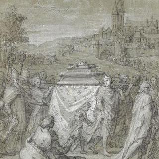 생 드니로 성 루이의 시신을 가지고 오는 필립 르 아르디 3세