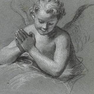 구름 위에 기댄 천사의 습작