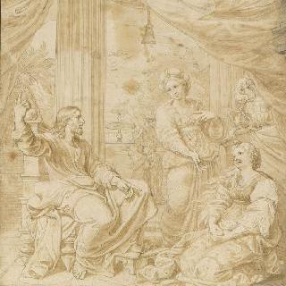 마르트와 마리아 막달레나 집의 그리스도