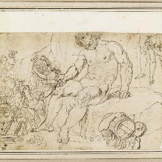 키클로페스 폴리페모스에게 마론의 포도주를 주는 율리시스