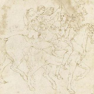 말을 탄 세 명의 군인