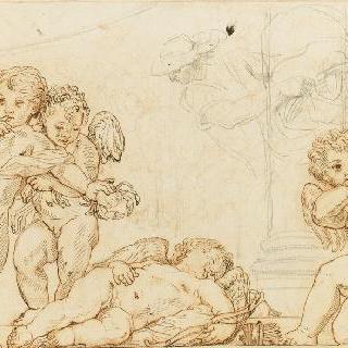 세 명의 에로스와 한 명의 잠든 에로스