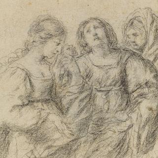 세 개의 여인들의 상반신