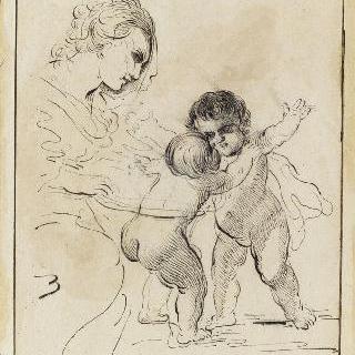 아기 예수와 어린 성 요한을 바라보는 성모
