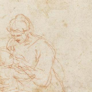 아기 예수에게 모유를 수유하는 성모
