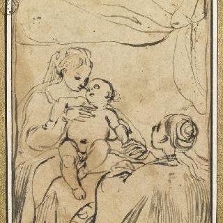 성모와 아기예수, 성녀 카트린 달렉산드리아