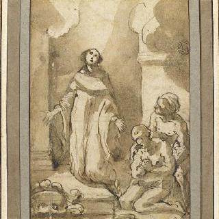 무릎 꿇은 성자의 기도로 회복한 환자