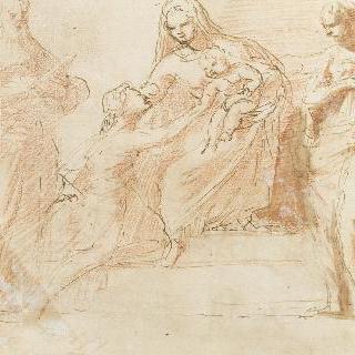 두 성자와 한 성녀의 경배를 받는 성모와 아기 예수