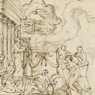 신전 앞, 고대의 희생