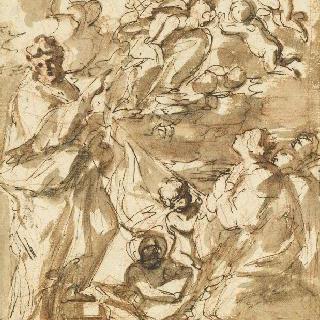 성자들 앞에 나타난 성모와 아기 예수