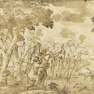 라동 강가에서 시링크를 납치한 목신 판