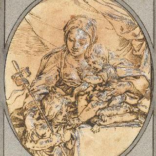 성 요한에게 은총을 내리는 성모와 아기 예수