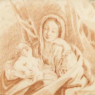 잠든 아기 예수를 안은 성모