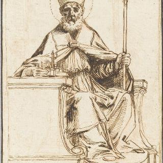 앉아 있는 성 페트론 주교