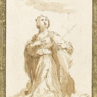 기도하는 성녀 카트린 달렉산드리아