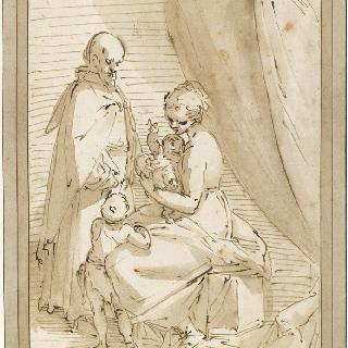 어린 성 요한과 함께 있는 성 가족